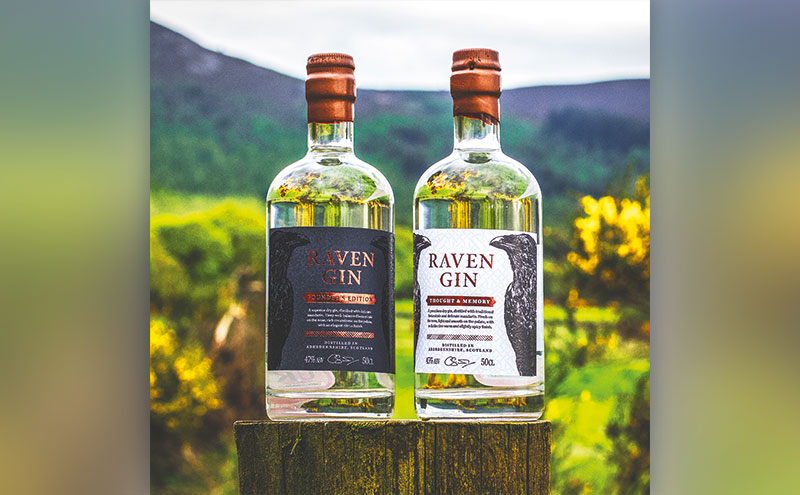 The initial releases from Raven Gin.