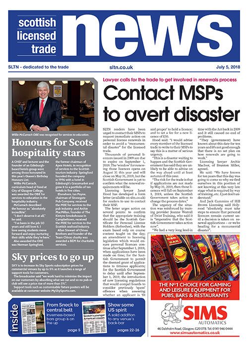 SLTN 5 July 2018 front cover