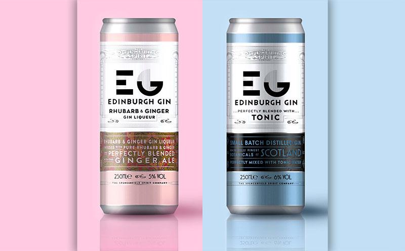 Edinburgh Gin's two premix variants.