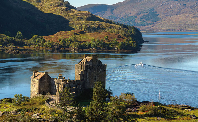A castle by a loch
