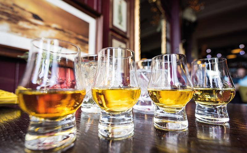 whisky glasses