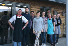 Under new management: the team at the Woodhouse café and farm shop in Kippen.