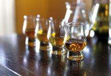 Whisky-glasses-on-bar