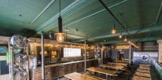 Innis and Gunn Brewery new look Taproom Bar after refurbishment