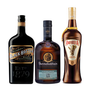 Black Bottle, Bunnahabhain, and Amarula