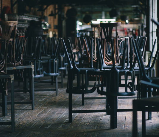 Closed_pub_chairs_on_tables
