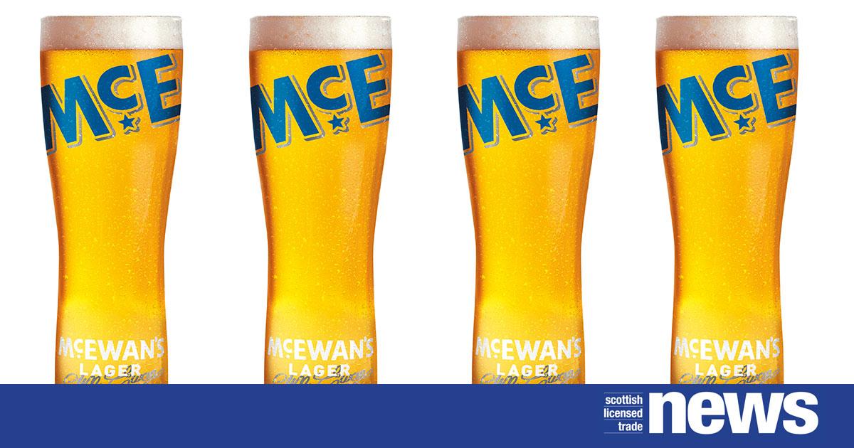 McEwans Lager Cold pint glass