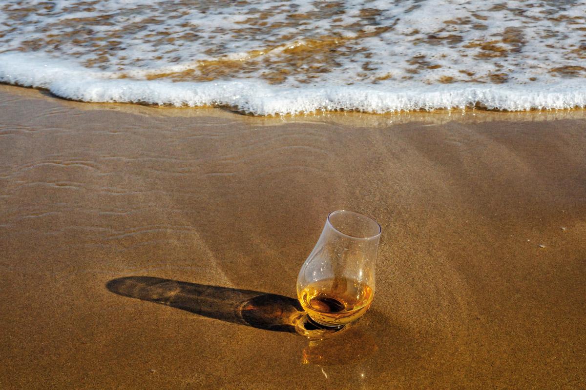 Whisky on a beach