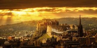 Edinburgh-castle-sunset