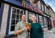 Blackfriars licensee Billy McKechnie (left) with Brian Davidson of Star Pubs & Bars.