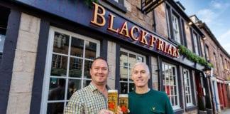 Blackfriars licensee Billy McKechnie (left) with Brian Davidson of Star Pubs & Bars.