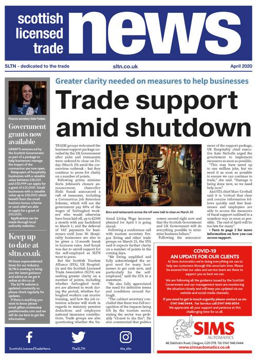 SLTN front cover April