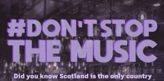 Dont Stop the Music campagin poster