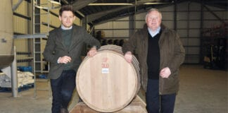 Andy Bell and James MacTaggart of Isle of Arran Distillers