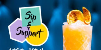 Sip and Support campaign advert